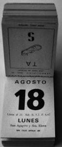 Estampas de antaño: los calendarios de entonces (1963-2000)