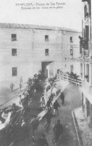 Imagenes del Ayer. Estampas sanfermineras. Imagenes del encierro: 1914-1950