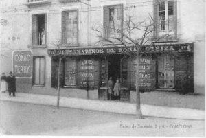 Comercios del Viejo Pamplona: el Paseo de Valencia (1908-1953)