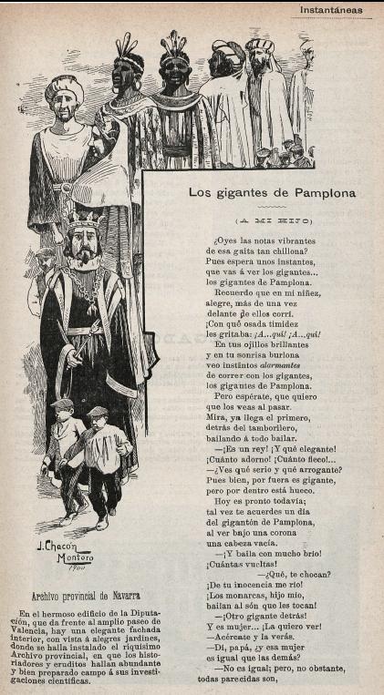 "Recuerdos sanfermineros: ""Los Gigantes de Pamplona"" de  Fiacro Iraizoz"