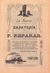 Anuncios comerciales en el Viejo Pamplona de principios del siglo XX (1900-1910)