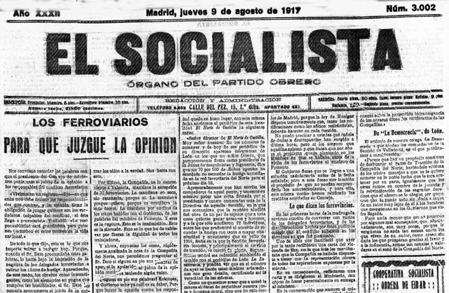 Resultado de imagen de huelga general 1917 españa